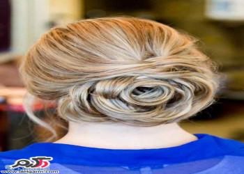 مدل مو عروس همراه با رنگ مو شیک