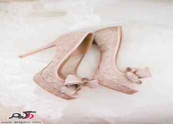 مدل کفش عروس با تم رنگی جذاب و روشن