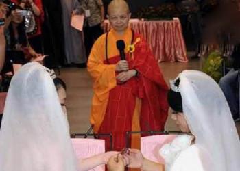 اولین ازدواج رسمی دو زن بودایی در تایوان .!!