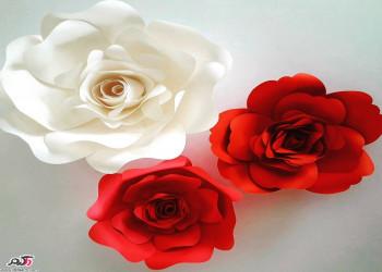 ساخت گل کاغذی تزیینی + عکس