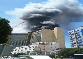 آتش سوزی یکی از هتل های خیابان امام رضا - مشهد