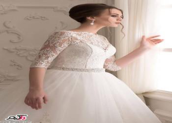 مجموعه مدل لباس عروس 2018 استین دار گیپور