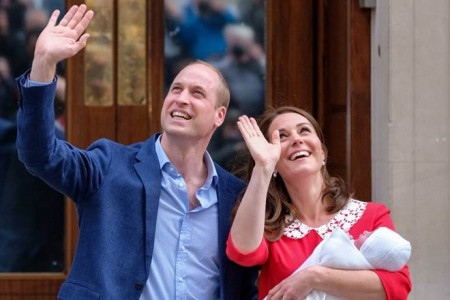 سومین فرزند شاهزاده انگلستان پرنس ویلیام و کاترین میدلتون به دنیا آمد!