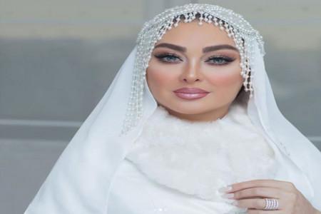 عکس های الهام حمیدی در لباس عروس و میکاپ خیره کننده اش