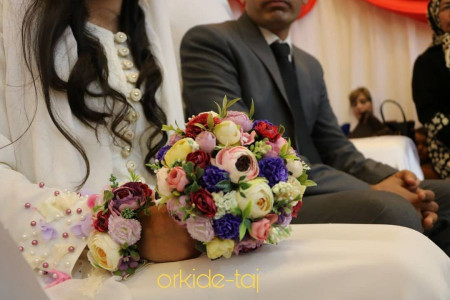 60 مدل دسته گل عروس مصنوعی 98 با طرح های شکیل و واقعا زیبا