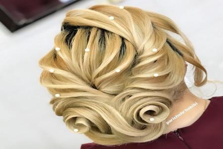 آلبومی از مدل شینیون خطی عروس جدید ۲۰۱۹ همراه با رنگ مو سال جدید