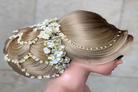 ۵۰مدل موی عروس برای جشن نامزدی با طراحی منحصربفرد ویژه مشکل پسندا