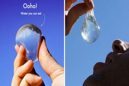 بسته بندی ژله ای آب معدنی اوهو (ooho) + فیلم و عکس