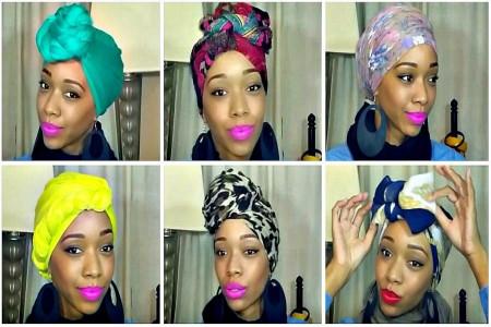 آموزش بستن توربان با روسری و شال
