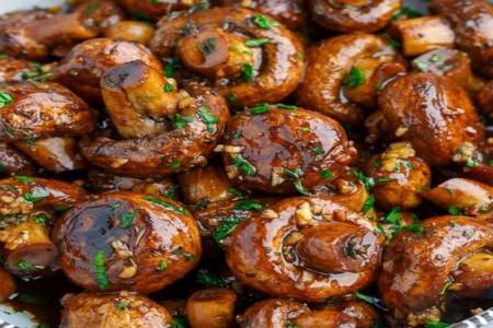 خوراک قارچ کاراملی