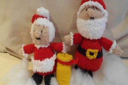 آموزش بافتنی : بافت عروسک بابا نوئل