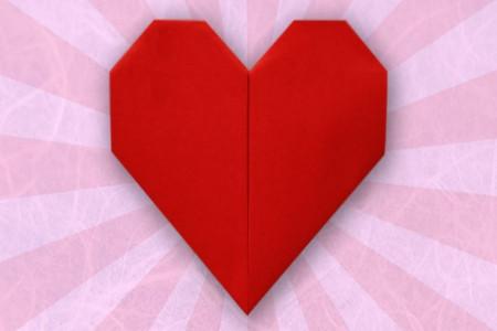 آموزش درست کردن قلب سه بعدی با کاغذ رنگی +تصاویر
