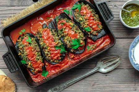 ۱۸ غذای راحت ولی خوشمزه و متنوع با بادمجان