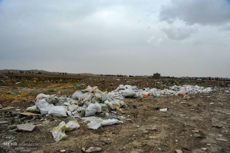 تصاویر نخاله های ساختمانی و زباله های شهری