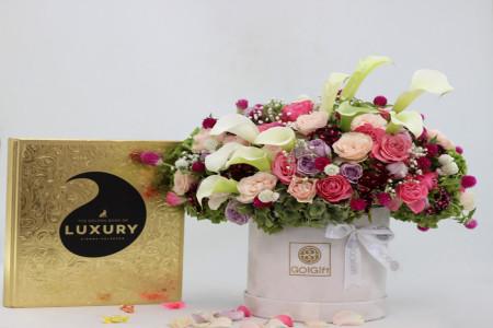 انواع باکس گل برای هدیه