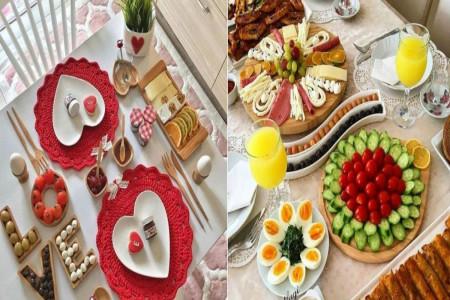 تصاویری از تزیین سفره صبحانه با ایده های خلاق و عاشقانه