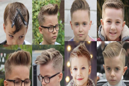 مدل مو پسرانه ( کودک ) در انواع طرح های اسپرت و کلاسیک