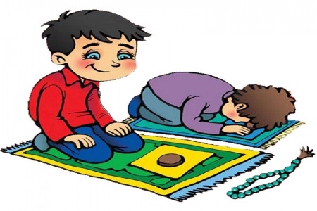 نقاشی نماز : 50 نقاشی با موضوع نماز برای رنگ آمیزی کودکان
