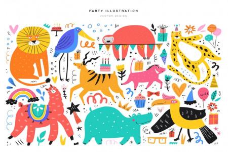 نقاشی حیوانات : 60 نقاشی ساده با موضوع حیوانات برای کودکان