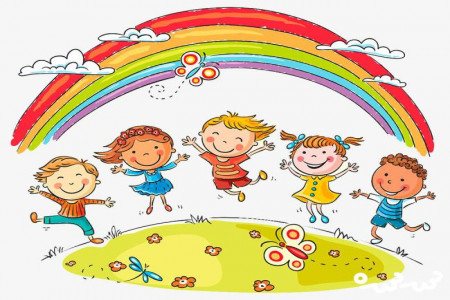 نقاشی رنگین کمان : 30 نقاشی رنگین کمان برای رنگ آمیزی کودکان