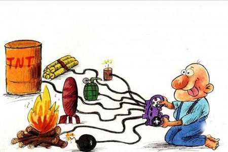 نقاشی ترقه : نقاشی خطرات ترقه و فشفشه برای رنگ آمیزی کودکان