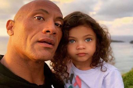 عکس دواین جانسون و دختر 4 ساله اش