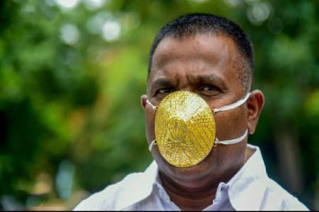 رونمایی از ماسک طلای 4 هزار دلاری !