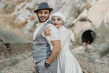 جدیدترین عکس های دو نفره ی پسر و عروس فاطمه گودرزی