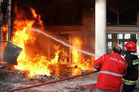 آتش سوزی یک بیمارستان در قم !