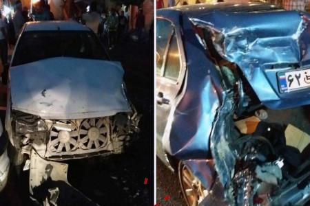 تصاویری هولناک از تصادف زنجیره ای یک کامیون با 16 خودرو !