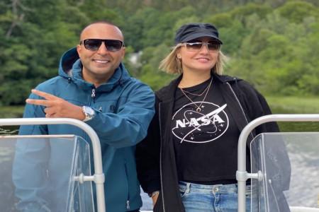 مهناز افشار در کنار آرش خواننده لس آنجلسی