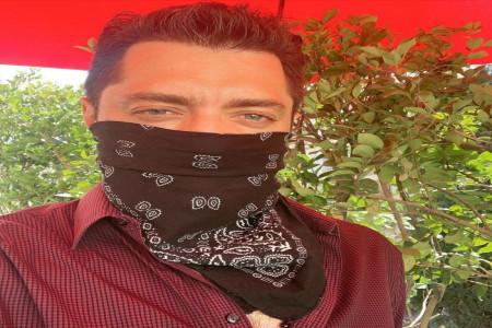 ماسک زدن به سبک بهرام رادان بازیگر خوش چهره ی ایرانی