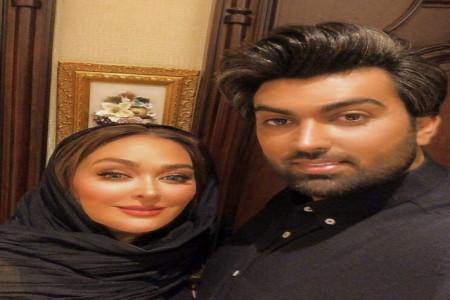 جدیدترین عکس دو نفره ی الهام حمیدی و همسرش