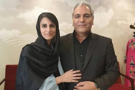 بوسه عاشقانه دختر مهران مدیری روی گونه های پدر