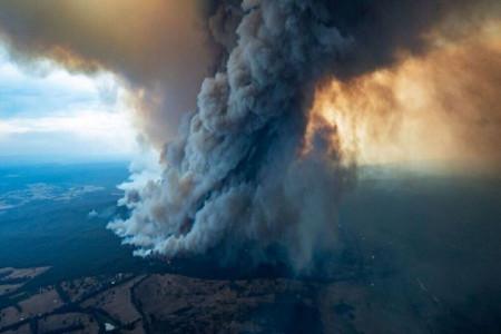 دود آتش سوزی استرالیا دور زمین می چرخد !
