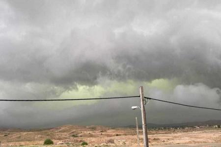 ماجرای ابرهای عجیب سبز در جنوب فارس چه بود ؟ + فیلم
