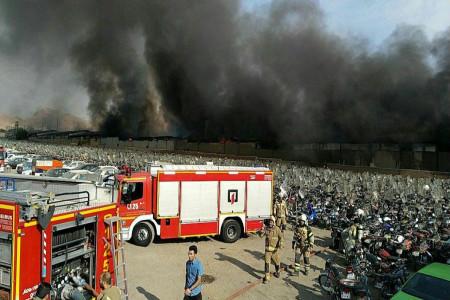 فیلم   آخرین جزئیات از آتش سوزی در خیابان جمهوری