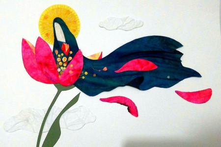 نقاشی با موضوع شهادت حضرت زهرا و ایام فاطمیه برای کودکان