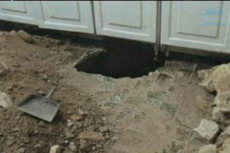 سرقت از منزل همسایه با حفر تونل!