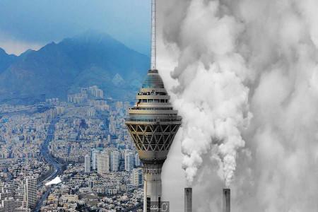 ادامه آلودگی هوا در پنج کلانشهر