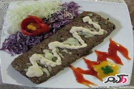 خوراک لذیذ گوشت قالبی