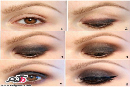 آرایش چشم همراه با تصاویر آموزشی جدید