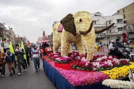 یک فیل در راهپیمایی امروز