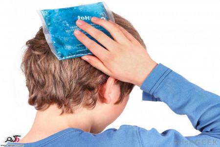 کاهش درد قسمتهای مختلف بدن در اثر آسیب دیدگی با کمپرس گرم و سرد