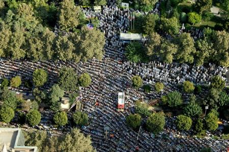 تصاویر زیبای هوایی از نماز پرشکوه عید فطر در تهران