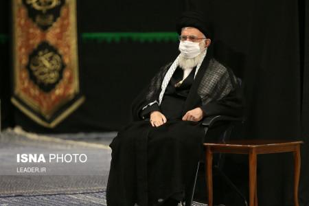 تصاویر عزاداری مقام معظم رهبری در شب تاسوعا و عاشورا