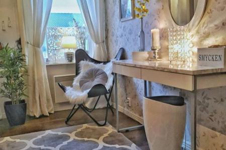 چیدمان جهیزیه عروس جدید   تزیین اتاق خواب عروس با وسایل ساده