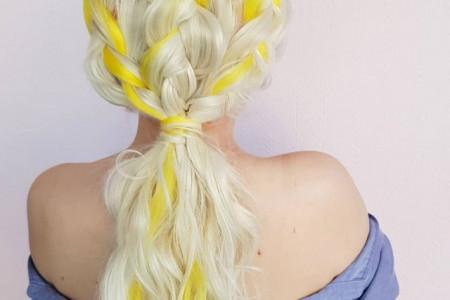 مدل رنگ مو فانتزی دخترانه شیک در طرح های شیک مجلسی و اسپرت