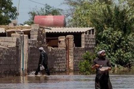 تخلیه روستاهای شعیبیه خوزستان به دلیل سیل زدگی + تصاویر