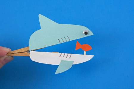 آموزش ساخت کاردستی واسباب بازی نهنگ و ماهی